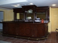 Huge mahagony bar in private upstairs room for 120